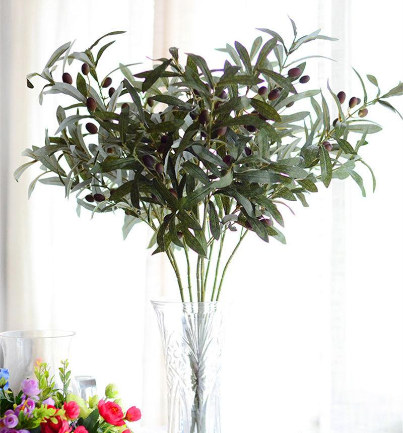 2019 Artificial European Olive Tree Branches With Olive Fruit Leaves