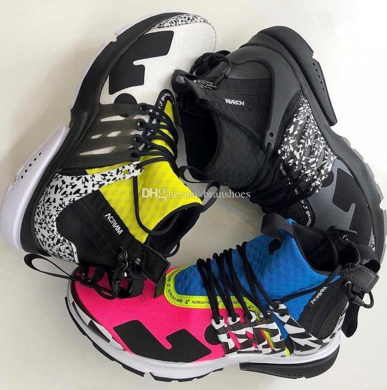 new product 46134 d9103 Acquista 2019 New Acronimo Presto Mid Uomo Donna Scarpe Da Corsa Blu Rosa Bianco  Nero Grigio Zapatillas Moc 2 Sneakers Sconto Popolare Casual Calzino Scarpe  ...