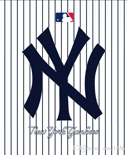 2019 New York YANKEES Jersey Mesh Fabric Shower Curtain Bathroom Cartoon CurtainsFabric CurtainThin CurtainWaterproof180cm 71IN From Mxc1256