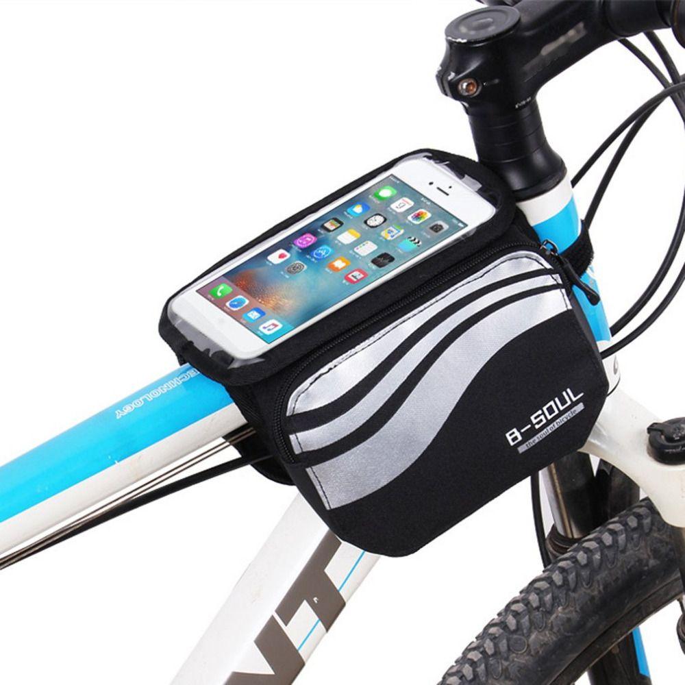a0794f89a8 Acheter B SOUL Écran Tactile VTT Vélo Vélo Sacs Étanche Vélo Haut Avant  Tube Cadre Sacs Vélo Accessoires Pour 5.5inch IPhone 6 7 De $34.54 Du  Crystalcle ...