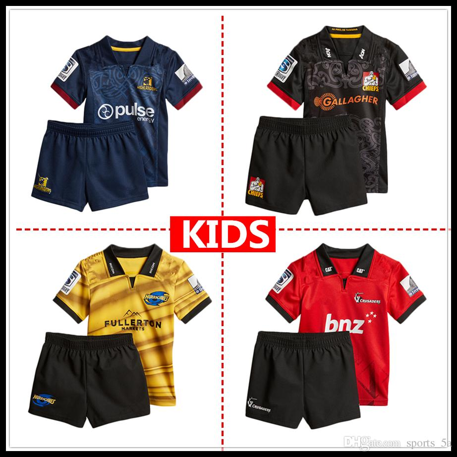 39f28d9caf0 2019 2018 2019 New Zealand Club Crusaders Kids Super Rugby Jerseys  Highlanders Jersey Chiefs Blues Hurricanes Child Kit Shirt From Sports_5a,  ...
