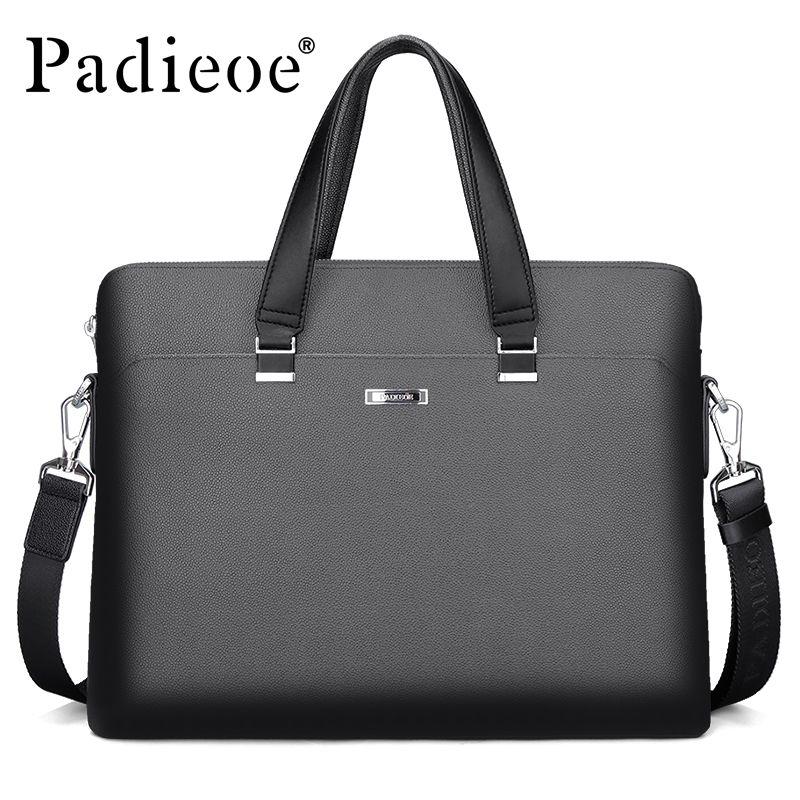 ea3214ff6648 Padieoe Luxury Men s Briefcase High Quality PVC Documents Bag for Male Men  Portfolio for Laptop Computers Fashion Office Bags Briefcase Fashion  Fashion ...