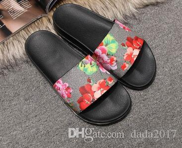 Free shipping Top Quality Luxury Brand Designer Men Summer Sandals Beach Slide Fashion Slippers Indoor Shoes Tiger Flowers Snake discount sale online cheap sale real EcTE4hwlj
