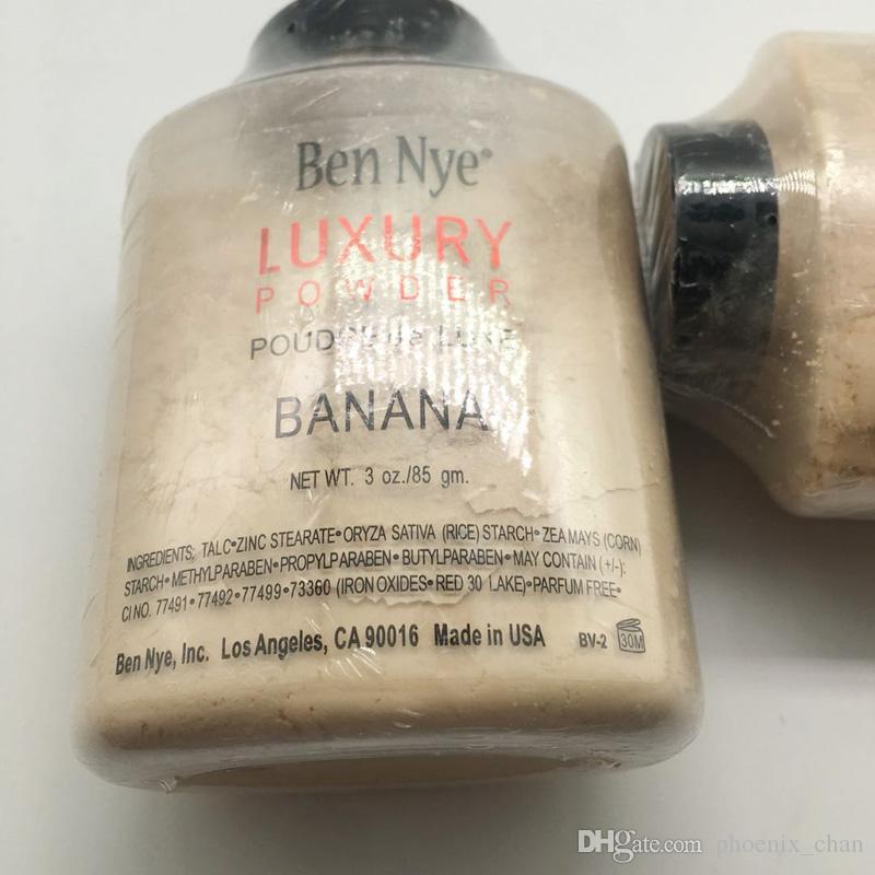 Hot Ben Nye Luxo Pós Poudre de luxe Banana 3 oz / 85g New Face Natural Pó solto Waterproof Pó Nutritiva Banana Brighten