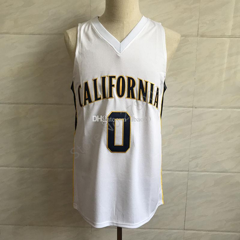 new product 9fbb2 6b975 #0 Jaylen Brown California College Classic Basketball Jersey Embroidery  Stitched Customize any number and name Jerseys