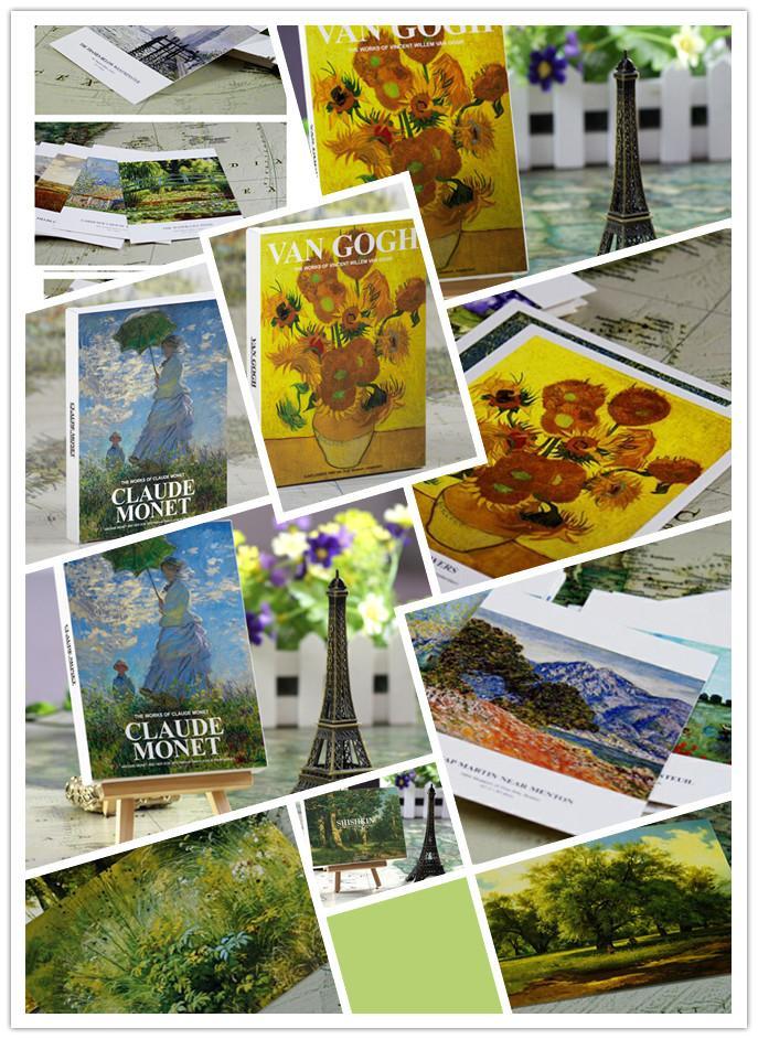 Artist Oil Painting Series Postcards Set Drawing Post Card Set ...