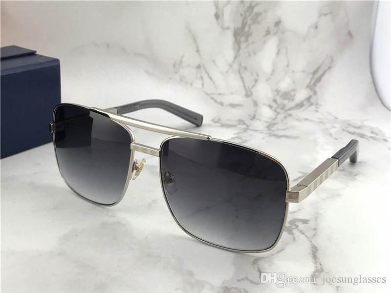63771c10a362c Compre Homens Do Vintage Óculos De Sol Ao Ar Livre Atitude Clssic Metal  Prata Moldura Quadrada Óculos De Proteção Uv 400 Com Caixa De Laranja De ...