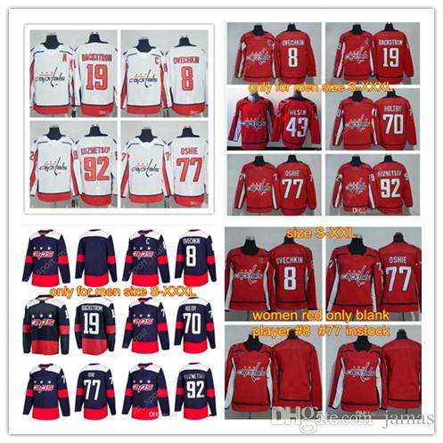9aee22af90e 2018 Stadium Series Washington Capitals 77 TJ Oshie Alex Ovechkin Evgeny  Kuznetsov Braden Holtby Nicklas Backstrom Tom Wilson Hockey Jerseys UK 2019  From ...