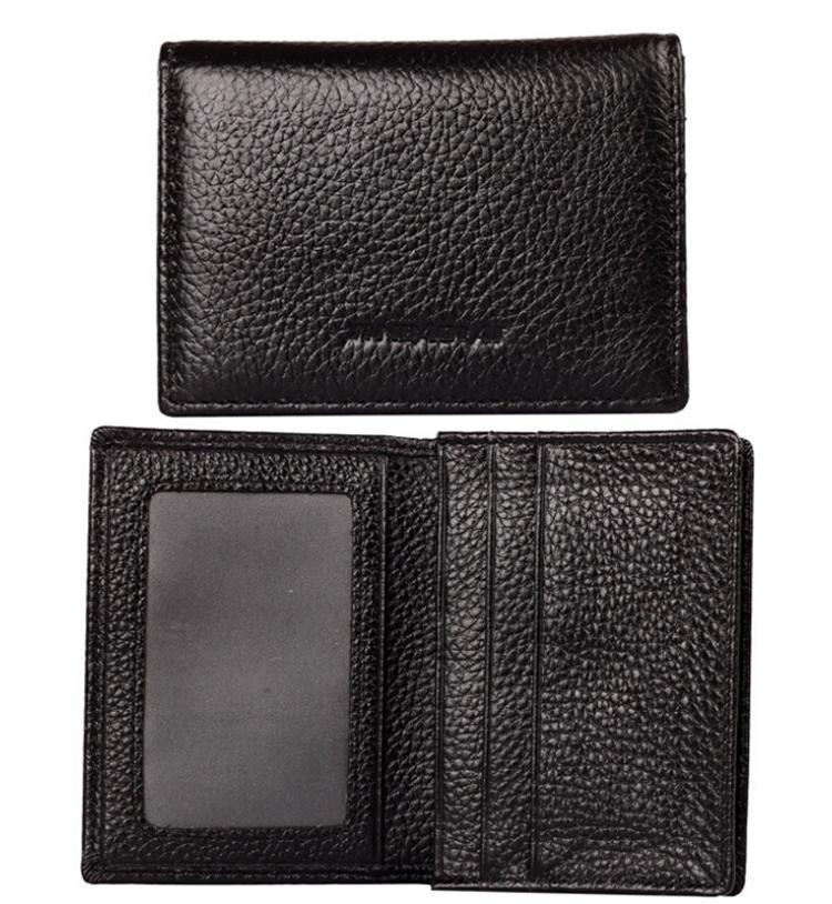 Heißer Verkauf Echtes Leder Visitenkartenhalter Mode Neue Multi Farben Karten Paket Kurze Stil 2 Falten Halter