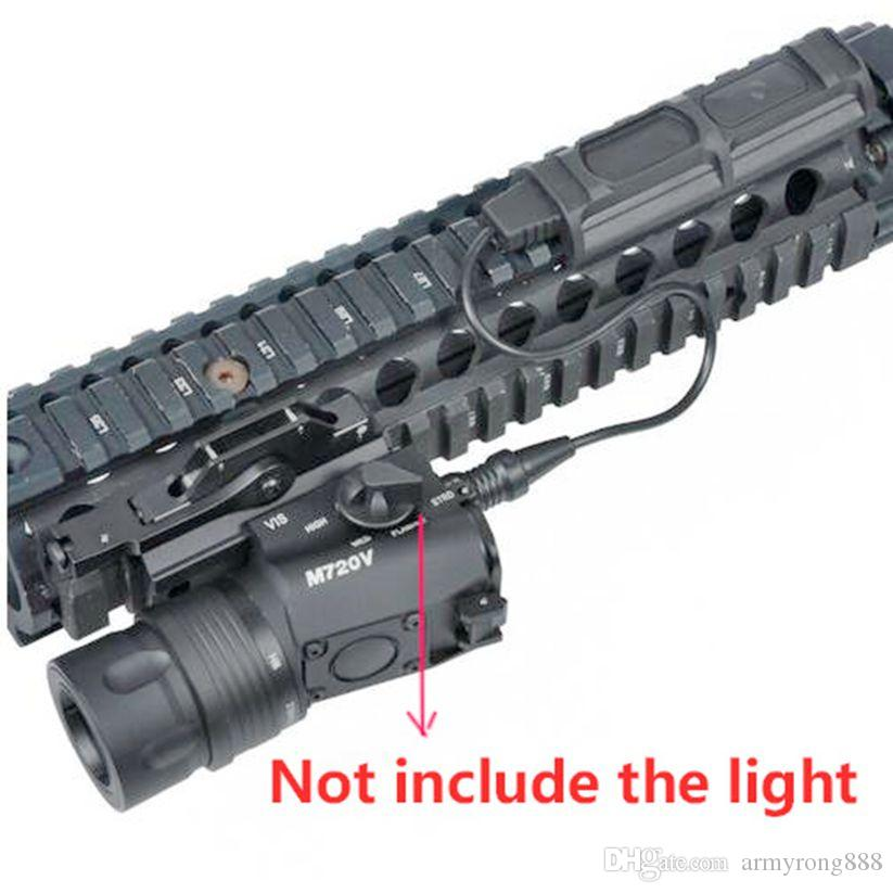 Tactical M720V Light Tactical Remote Dual Switch Fit 20mm Weaver Picatinny Rail Tail Switch 1 Plug Light hunting Accessories