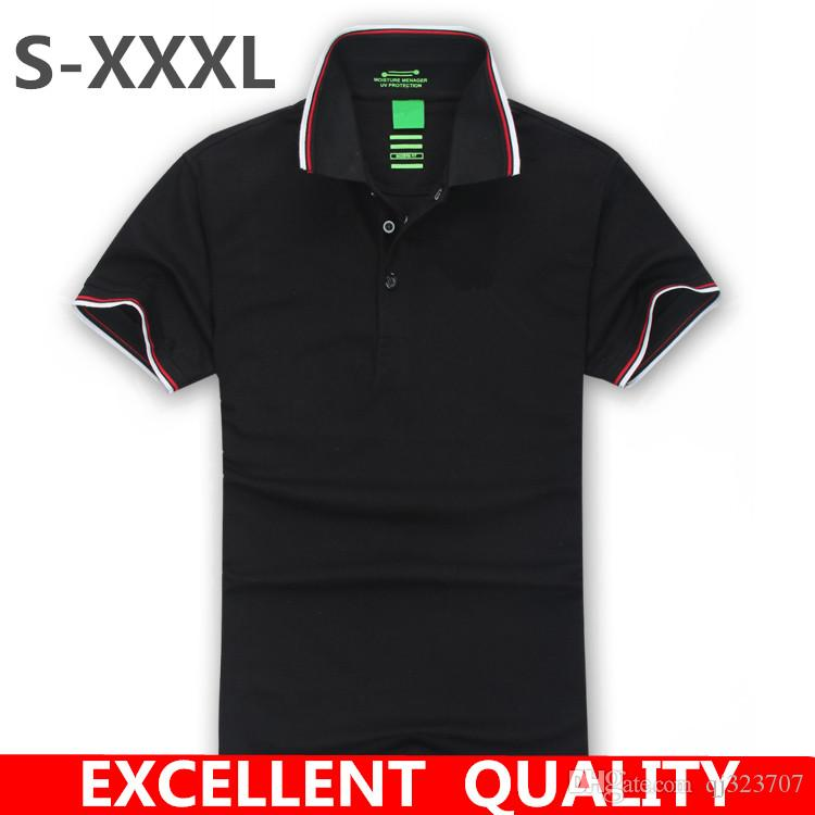 Plus Size Brand New Men s Embroidery Polo Shirt Men Short Sleeve ... 990fcb491aac