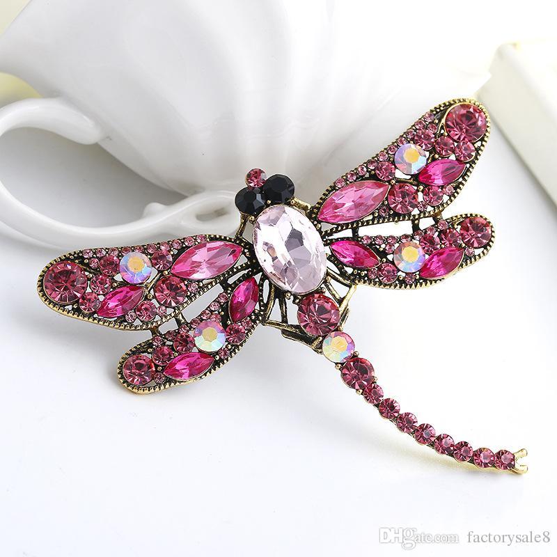 Nueva alta calidad de la moda de diamantes de imitación de la joyería de la broche del animal encantador de la aleación abejas broches de los pernos accesorios para las mujeres