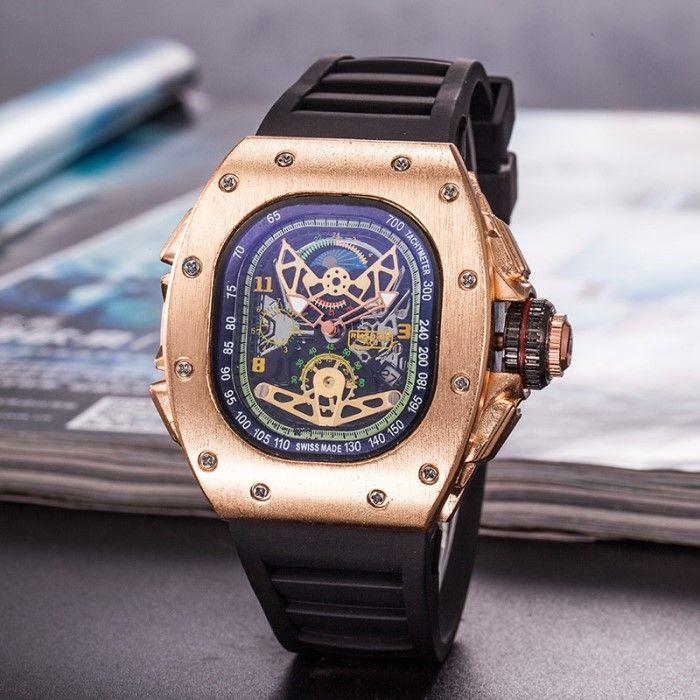 ccdca3fcbf18d NEW Casual Fashion Hollow Watches Men Luxury Army Skull Sport Quartz ...