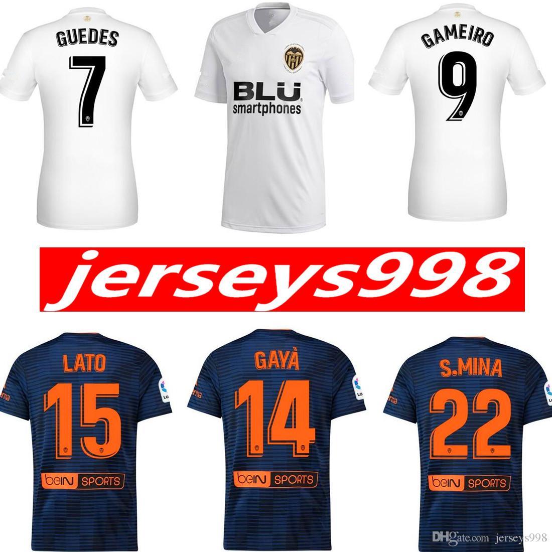 Camisetas De Fútbol Doradas Valencia 2019 De Calidad Tailandesa ... 3496048124b20