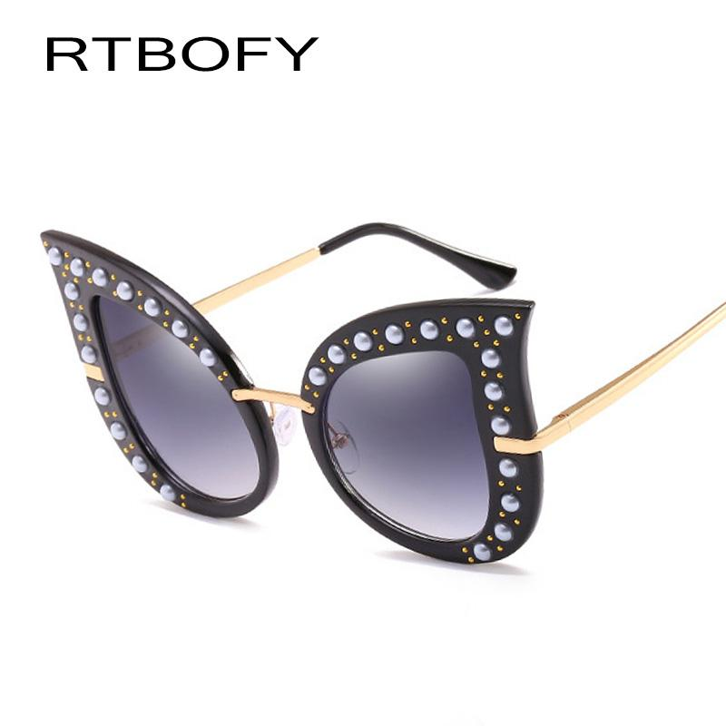 ec6c51036b RTBOFY Butterfly Sunglasses for Women Vintage Design Shades Party ...