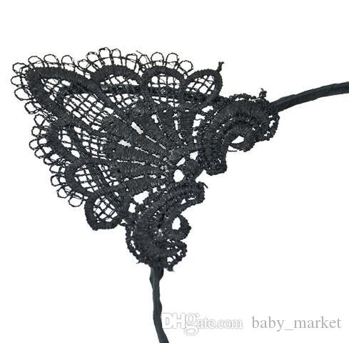 Black Lace Cat Ears Headband For Women Girls Hairband Dance Party Sexy Boutique Hair Hoop Hair Accessories 2018 Hot Sale /