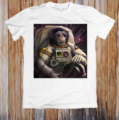 ASTRONAUT FUNNY MONKEY CHIMP IN SPACE UNISEX T SHIRT Pink Power Ranger Shirt Doge 3rd Birthday Online With 2256 Piece On Bikeshirtss Store