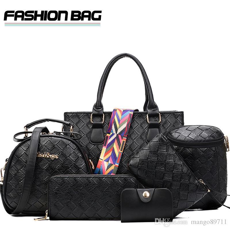 b63bfe2fec1d0 Composite Set Bags Women Handbag Top Brand Luxury Lady Shopping Shoulder Bag  Clutch Purse Bag Name Brand Purses Overnight Bags From Mango89711, ...