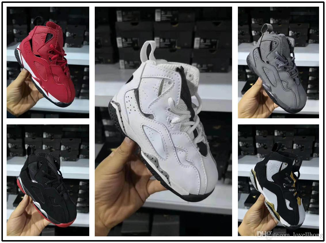 best sneakers f4e4d d8437 Acheter Nike Air Jordan Aj7 2018 Marque Filles 7 Enfants Chaussures De  Basket Ball Pour Garçon Chaussures Enfants 7s Basket Ball Pour Filles Tout  Petits ...