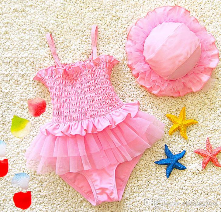 6a12abd9a7 Girls Lace Tulle Princess Swimwear 2018 New Children Ruffle Elastic  Suspender Siamese Beachwear Kids Lace Falbala Pageant Swimsuits R2663 Children  Lace ...