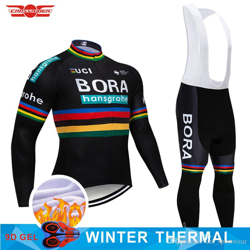2018 TEAM BORA Winter Thermal Fleece Cycling Jersey Bike Pants Set Mens 9D  Pads Ropa Ciclismo Cycling Wear Maillot Culotte Biker T Shirt Vintage  Cycling ... e8f3070d7