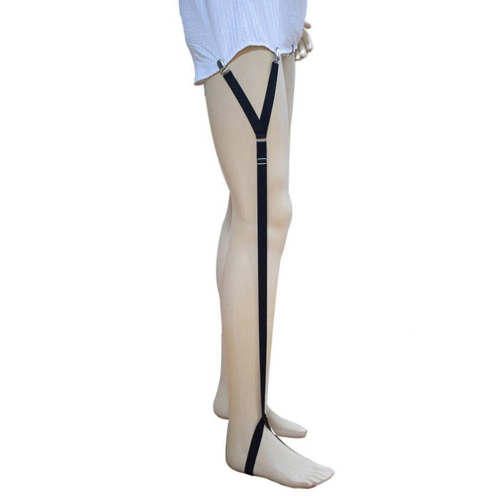 Men Adjustable Shirt Stays Elastic Suspenders Mens Shirt Holder Gentleman Leg Braces Tirantes Hombre Business Suspender Belt Men's Accessories