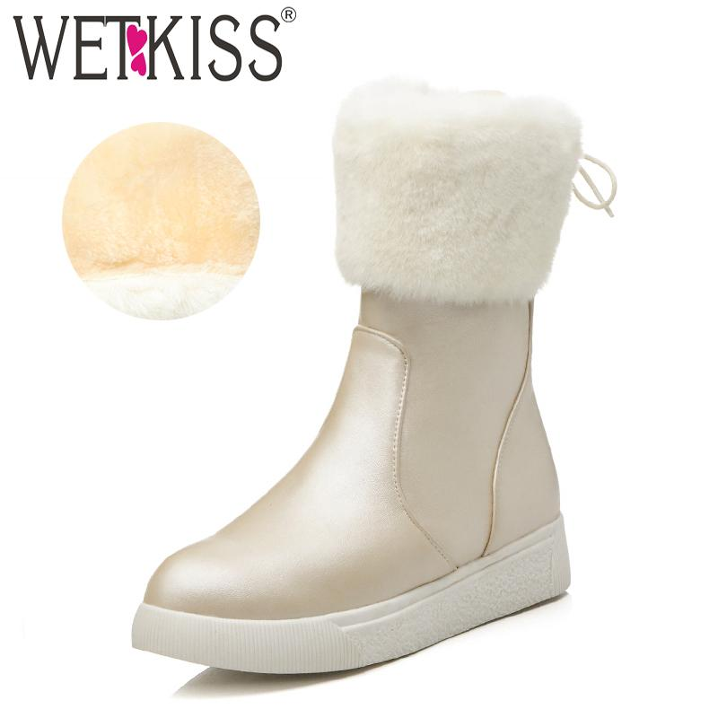 Wholesale Winter Plush Ankle Women Boots Cross Tied Round Toe Flat Sole  Footwear Pu Female Boot Platform Snow Shoes Woman 2018 Booties Football  Boots From ... d8d082ebb4