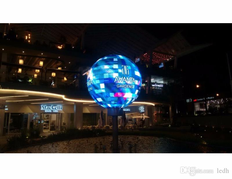 3D sphere indoor led screen/ led ball display /round led billboard use for  park/square/museum /aquarium