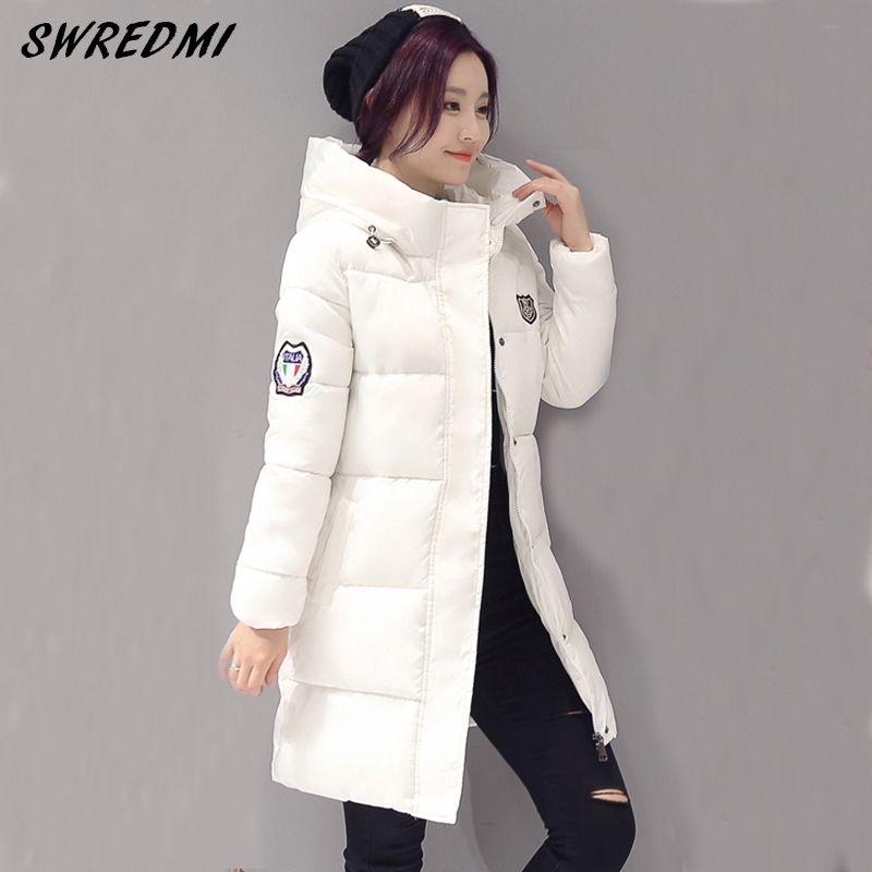 11cc8273a9b 2019 New SWREDMI White Winter Coat Women 2018 Hot Sale Long Parka ...