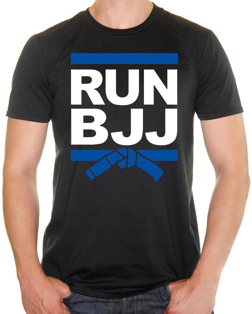 64a78476f8faa Acheter  Run BJJ  Brazlian Jiu Jitsu Runer DMC Parodie T Shirt Rigolo Pour  Homme De  12.77 Du Baisheng03   DHgate.Com