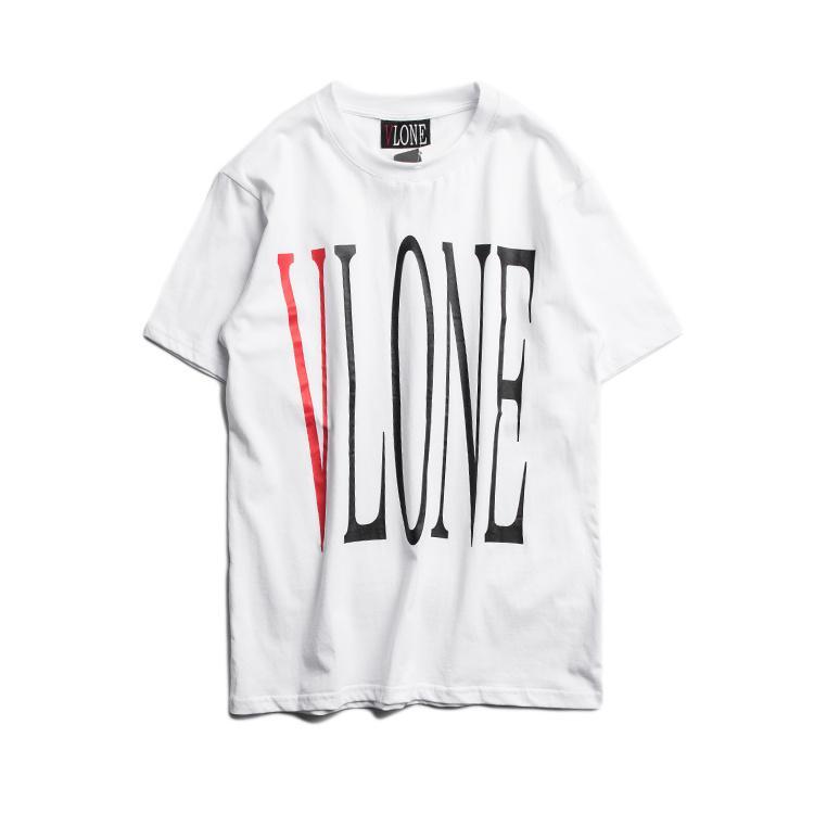 04ece388 Vlone T-Shirts Men Women High Quality Pop Up Papking Fragment Top Tees  Fashion T Shirt V Friends Vlone T-Shirts