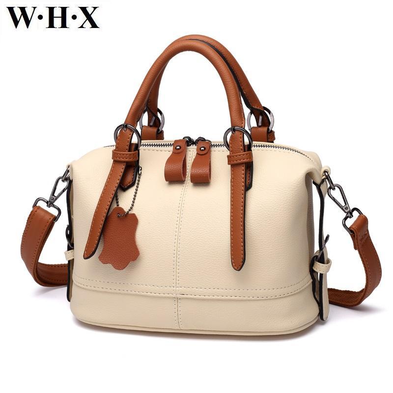 4e809ba91 WHX Beige White Leather Handbags Women Tote Bags Crossbody Bag Latest Design  Fashion Casual Female Shoulder Messenger Bag New Pu Leather Satchel Ladies  Bags ...