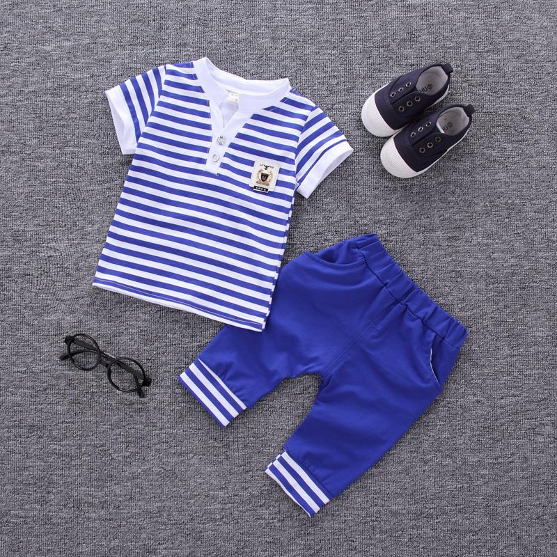 e393edee048b48 2019 Fashion 2018 Summer Children Boys Girl Striped Clothes Baby Short T  Shirt Pants  Sets Kids Clothing Sets Toddler Tracksuits From  Shanghaiyuhong005