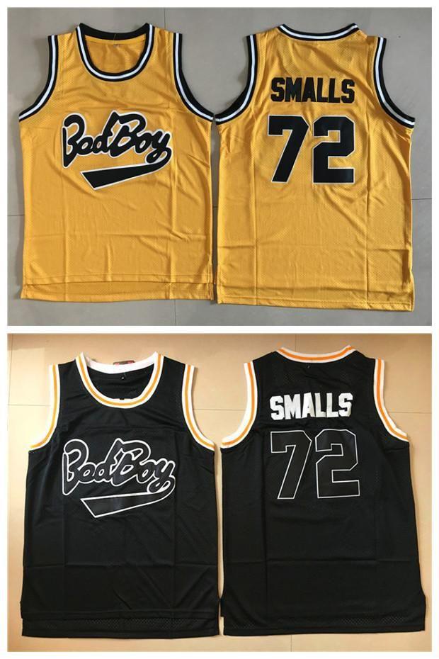 Movie Basketball Jersey Men Sewn Bad Boy Biggie Smalls 72 Notorious B.I.G