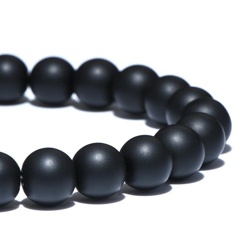 Black White Natural Stone Beads Bracelet Sets Opal Gravel Elastic Beaded Couple Braclet For Men Women Hand Jewelry