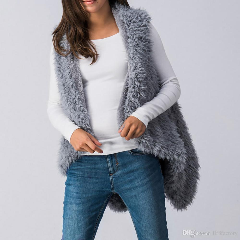 2018 hiver nouvelle conception artificielle cheveux d'agneau cheveux dames gilet de fourrure de mode irrégulière sans manches dames manteau 9066