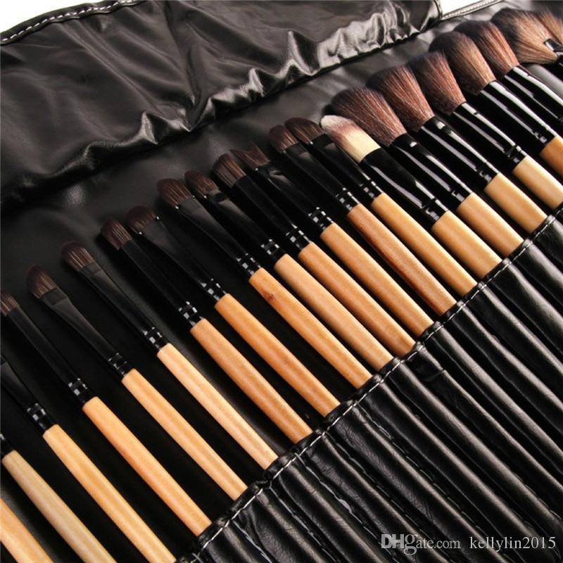 Set pennelli trucco professionale 24 32 pezzi Kit cosmetici completo rosa nero Kit pennelli cipria Pennello ombretto