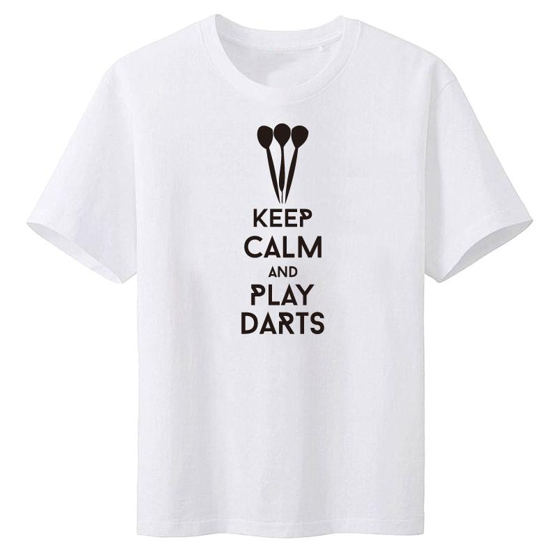 640bfcab Man T Shirts Keep Calm And Play Darts Tops Short Sleeve Plus Size T-shirt  For Men Tee Shirts Clothes free shipping
