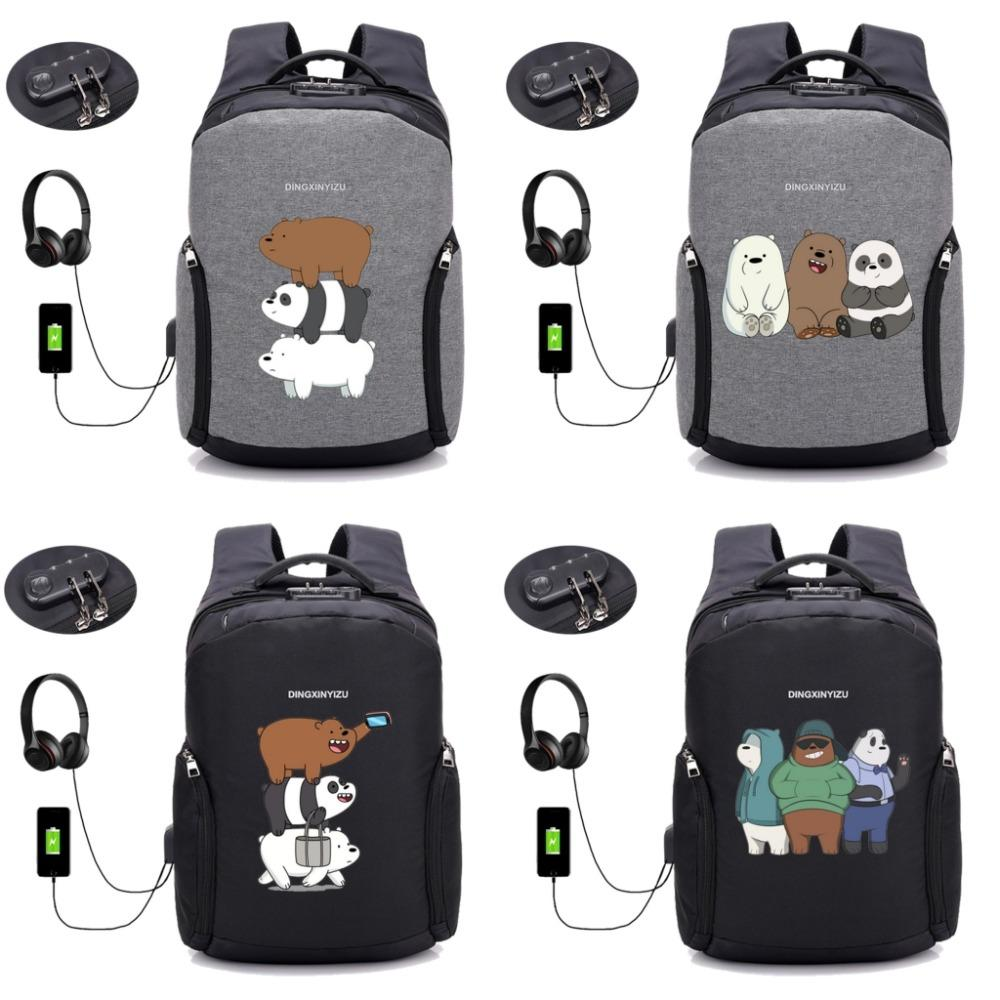 Anime backpack anti theft usb charging laptop waterproof backpack shoulder travel bag unisex knapsack 8 style black backpack camera backpack from leafie
