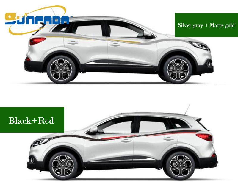 Hot sale sport style car body decal car stickers for renault kadjar 2015 2016 2017 both side sticker car styling car stylingcar accessoriesstickers online