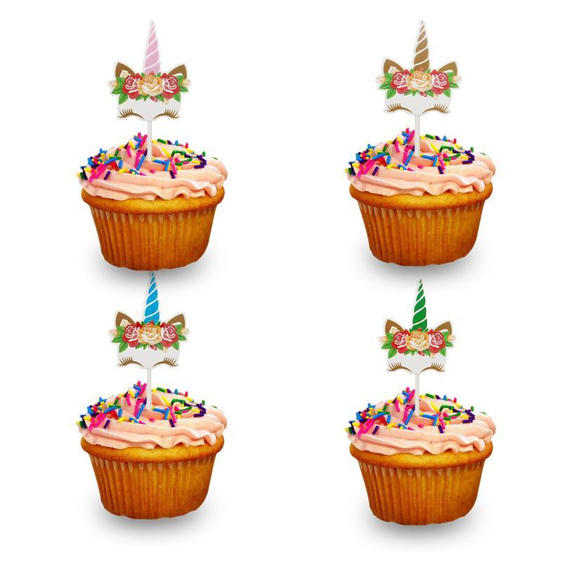 Grosshandel 6 Teile Los Kinder Kuchen Geburtstag Kuchen Um Einhorn