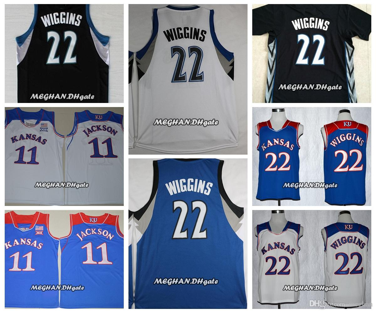 9dc42e2a290 ... authentic 02417 90c0f  official 2018 kansas jayhawks 11 josh jackson college  basketball jerseys 22 andrew wiggins stitched shirts cheap