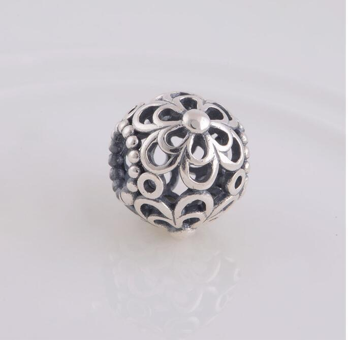 44b5c4607 2019 NEW 925 Sterling Silver Hollow Daisy Flower Spacer Charm Bead Ball,  DIY Jewelry Fits European Pandora Charm Bracelet LW161 From Haijing2005, ...
