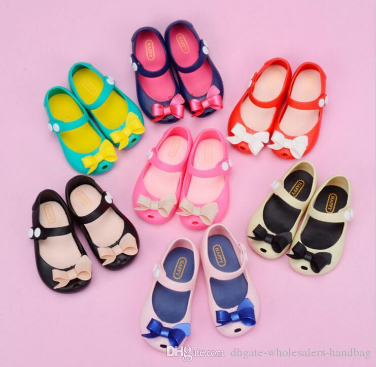 9ce14143ae7b 7 Style Models Children Jelly Sandals 2018 Spring Summer New Cartoon Female  Princess Shoes Butterfly Knot Baby Girls Sandals Kids Girls Shoes Toddler  Boy ...