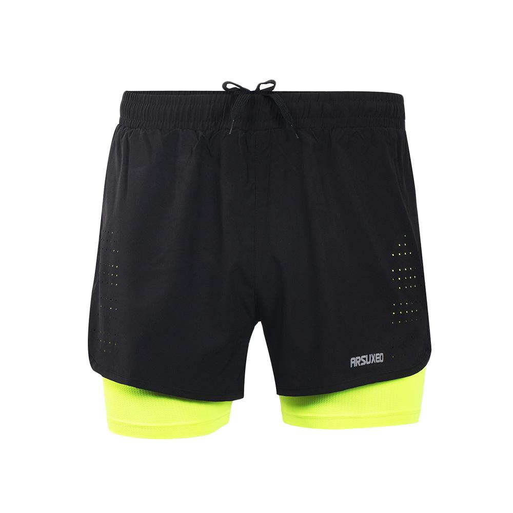 Mens Sports 3 Running Shorts Training Exercise Jogging Short Pants 2 In 1  Marathon Short Man Sport Deportivo Hombre UK 2019 From Neyei e477c19a812b