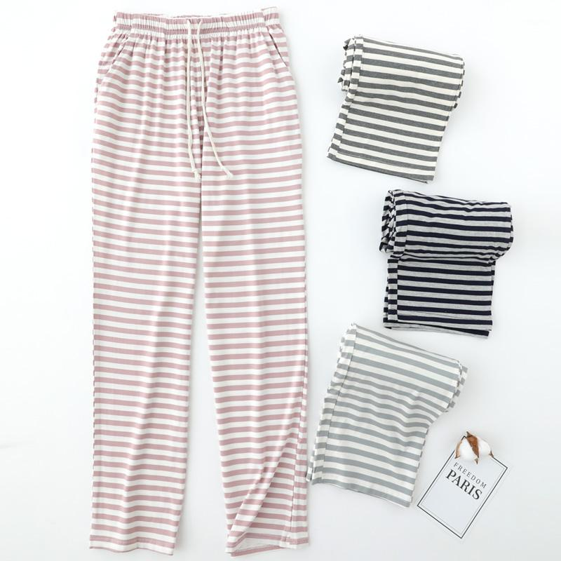 2019 UNIKIWI.Women S Homewear Sleep Bottoms Cotton Stripe Loose Pajama Pants.Casual  Ladies Pyjama Trousers.Pajamas Loungewear From Griseldala 97d88e637