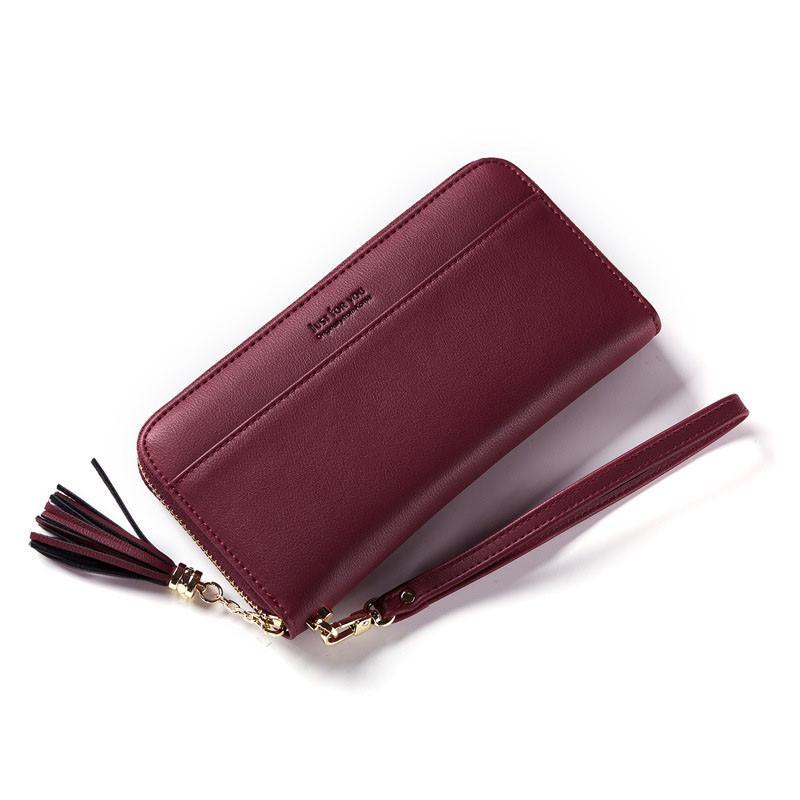 52845993fae1 Women s Long Wallet Fashion Purse PU Leather Clutch Bag Zipper Coin ...