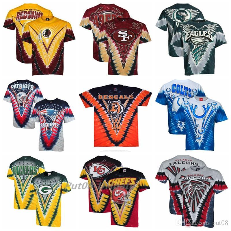 843702026 2018 Men Washington Redskins Philadelphia Eagles Indianapolis Colts Green  Bay Packers Bengals Atlanta Falcons Tie-Dye Premium T-shirt LeBron James T- shirt ...