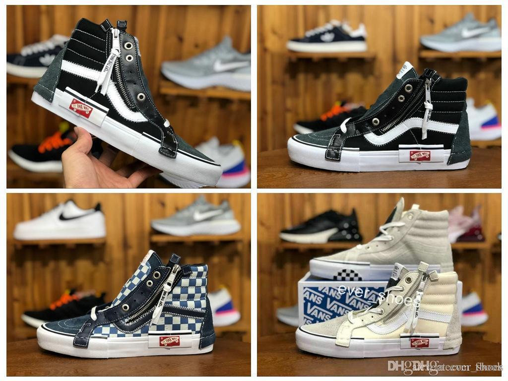 8404c21e9f8c0 2018 VAULT OG SK8-HI SLIP ON CAP LX Women Men Zip Old Skool Shoes ...