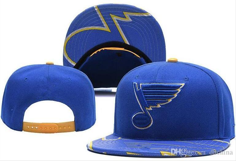 5a3d6cec99d75d New Caps Blues Hockey Snapback Hats Blue Color Cap Team Hats Mix ...